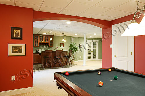 Finished Basement Photo | Game Room, Wet Bar, Gym | Limerick, PA