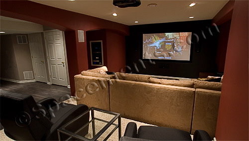Finished Basement Design Photo | Home Theater | Exton, PA