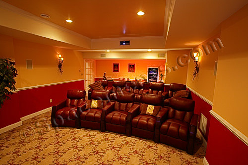 Finished Basement Design Photo | Home Theater | Philadelphia