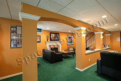 Finished Basement Design Family Room Photo | Collegeville, PA
