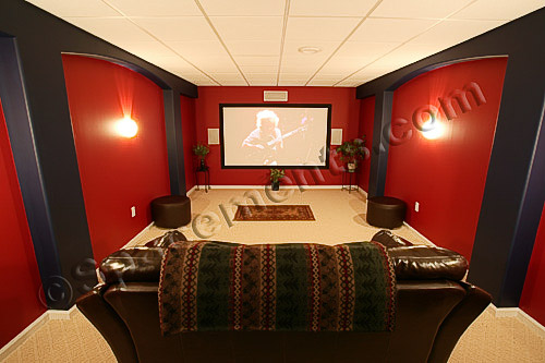 Finished Basement Design Home Theater | Chester County, PA