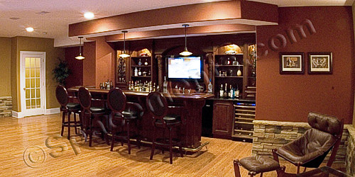 Finished Basement Design Wet Bar | Phoenixville, PA