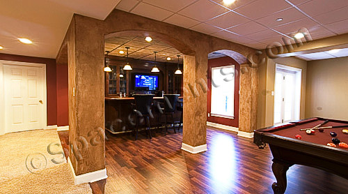 Finished Basement Design Game Room & Wet Bar | Chester County, PA